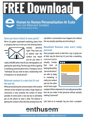 Bonus Offer | Human to Human Personalization At Scale