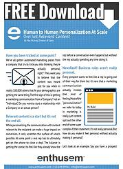Bonus Offer   Human to Human Personalization At Scale